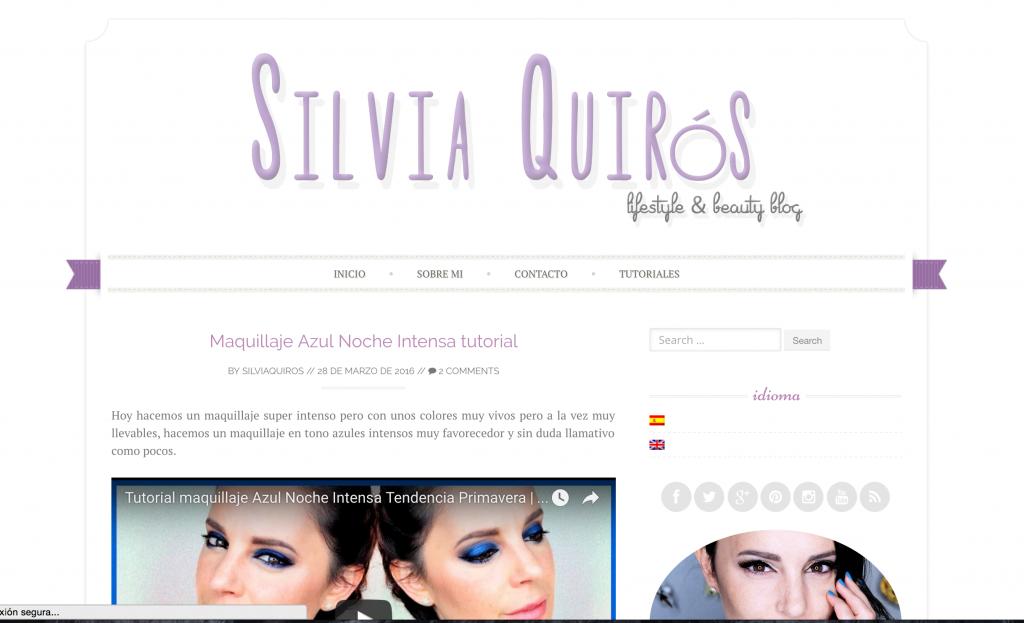 Blog de belleza, maquillaje y estilo de vida de Silvia Quirós
