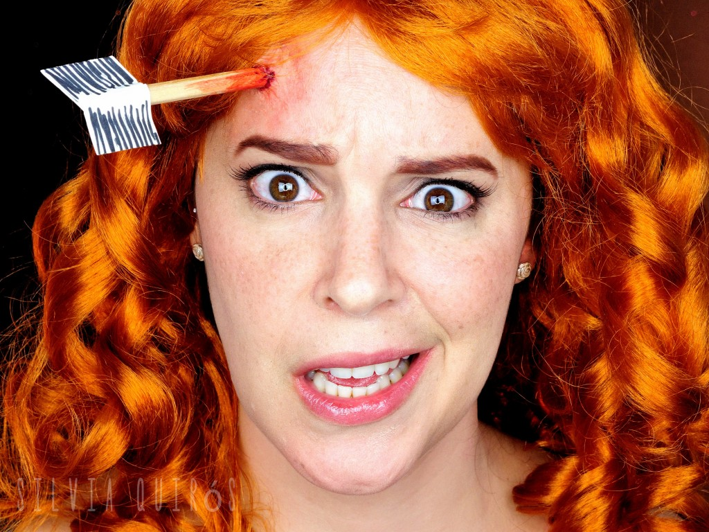 Merida from Brave with an arrow nailed special effect