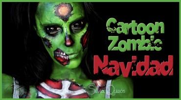 Maquillaje Cartoon Zombie de navidad