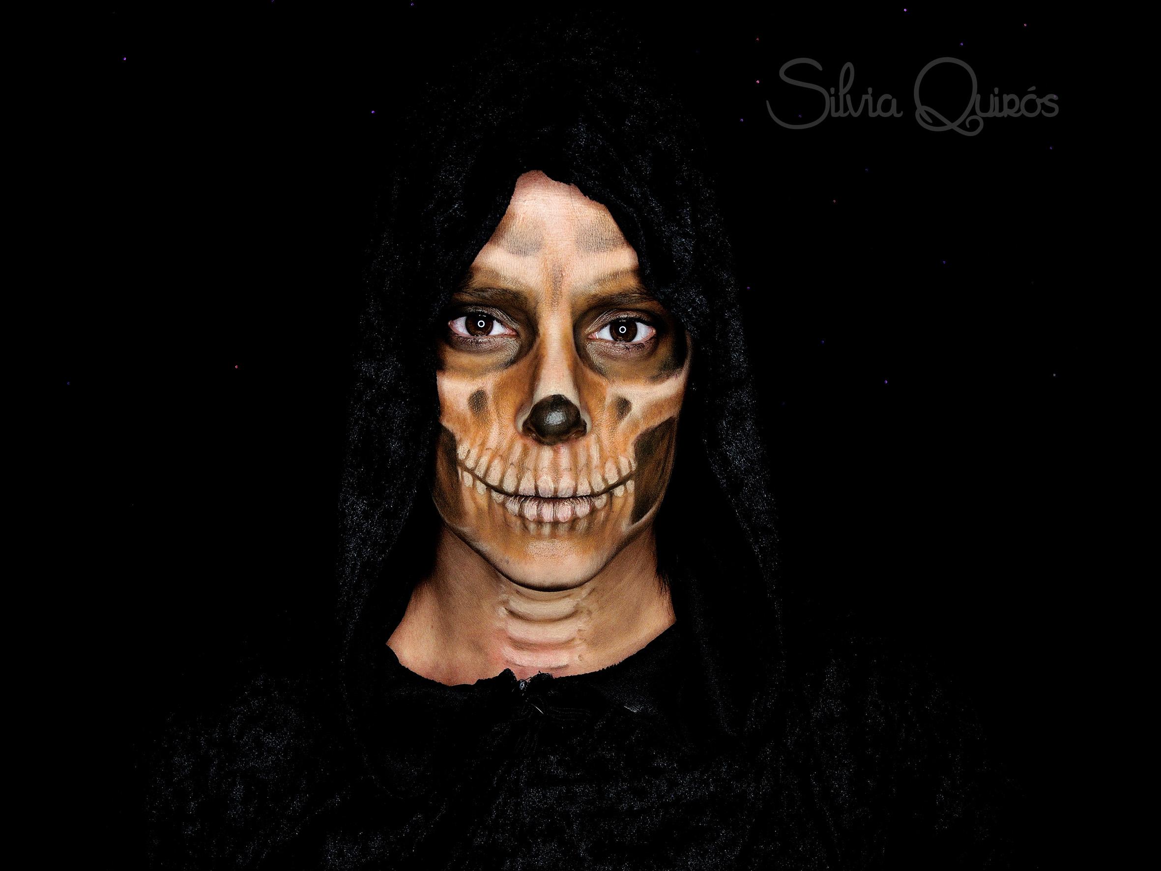 Maquillaje Grim Reaper efectos especiales
