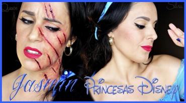 Princesa Jasmin con arañazo de tigre tutorial efectos especiales