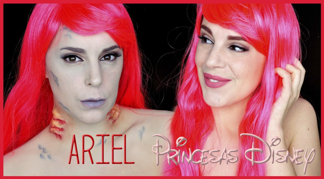 Ariel, La Sirenita con branquias maquillaje efectos especiales