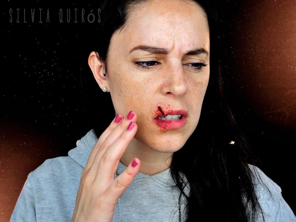 Split Lip Makeup Special Effect - Silvia Quiru00f3s