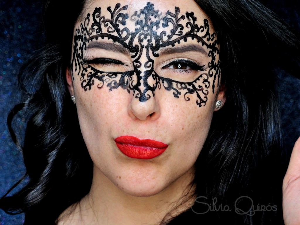 Lace Mask Face Paint Tutorial Silvia Quir 243 S