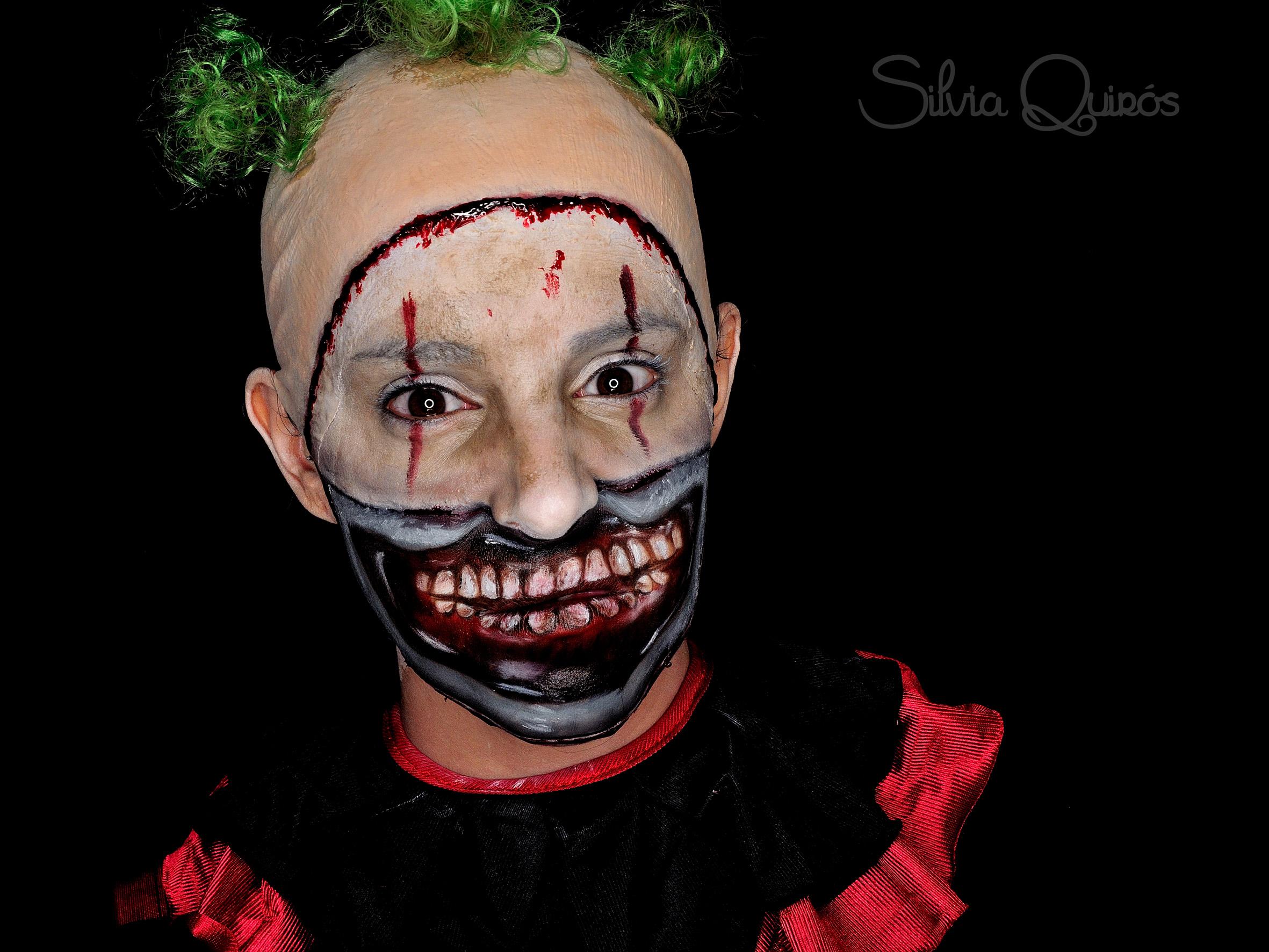 Maquillaje payaso diabólico American Horror Story