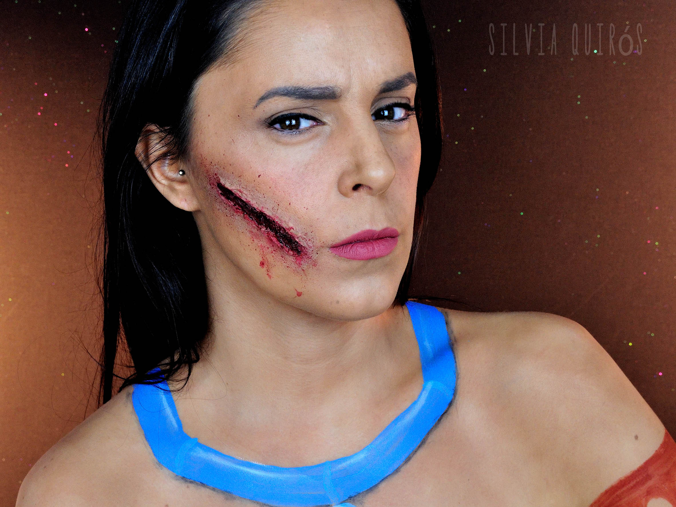 Pocahontas with bullet torn on the face special effects silvia pocahontas with bullet torn on the face special effects baditri Images