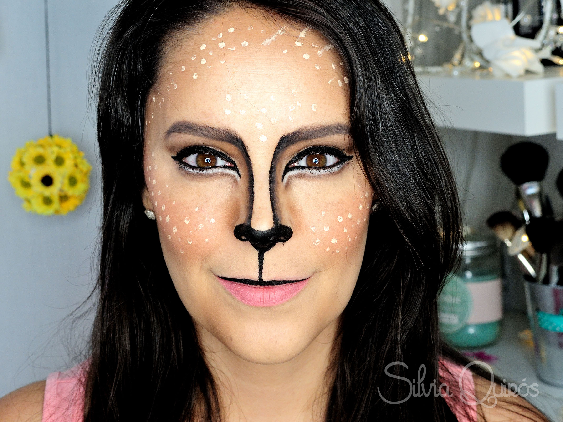 Reindeer makeup tutorial Cute Reindeer makeup tutorial Cute Reindeer ...