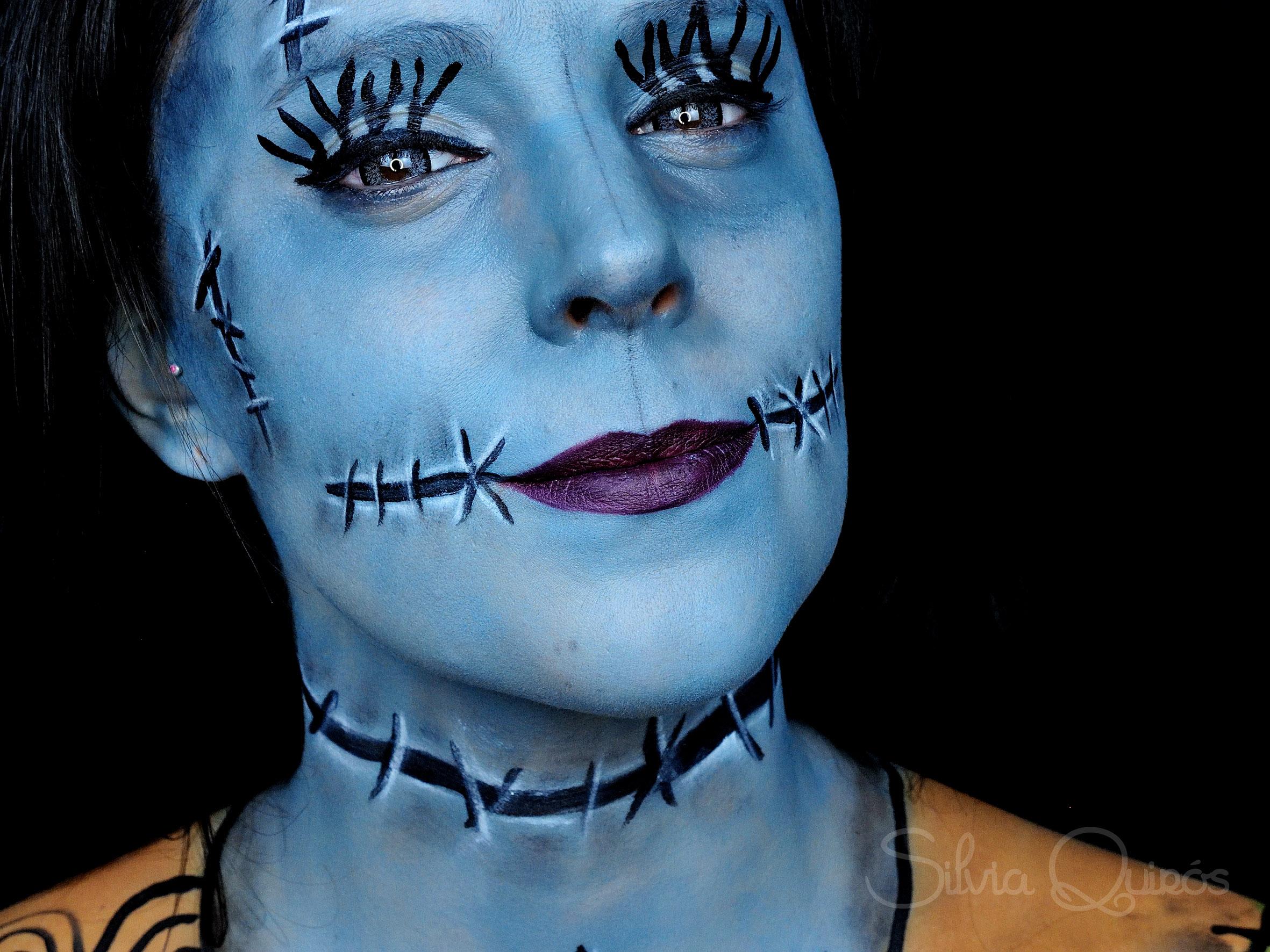 Nightmare Before Christmas Sally Makeup Tutorial Silvia