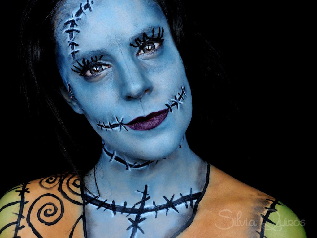 Nightmare Before Christmas Sally Makeup Tutorial Silvia