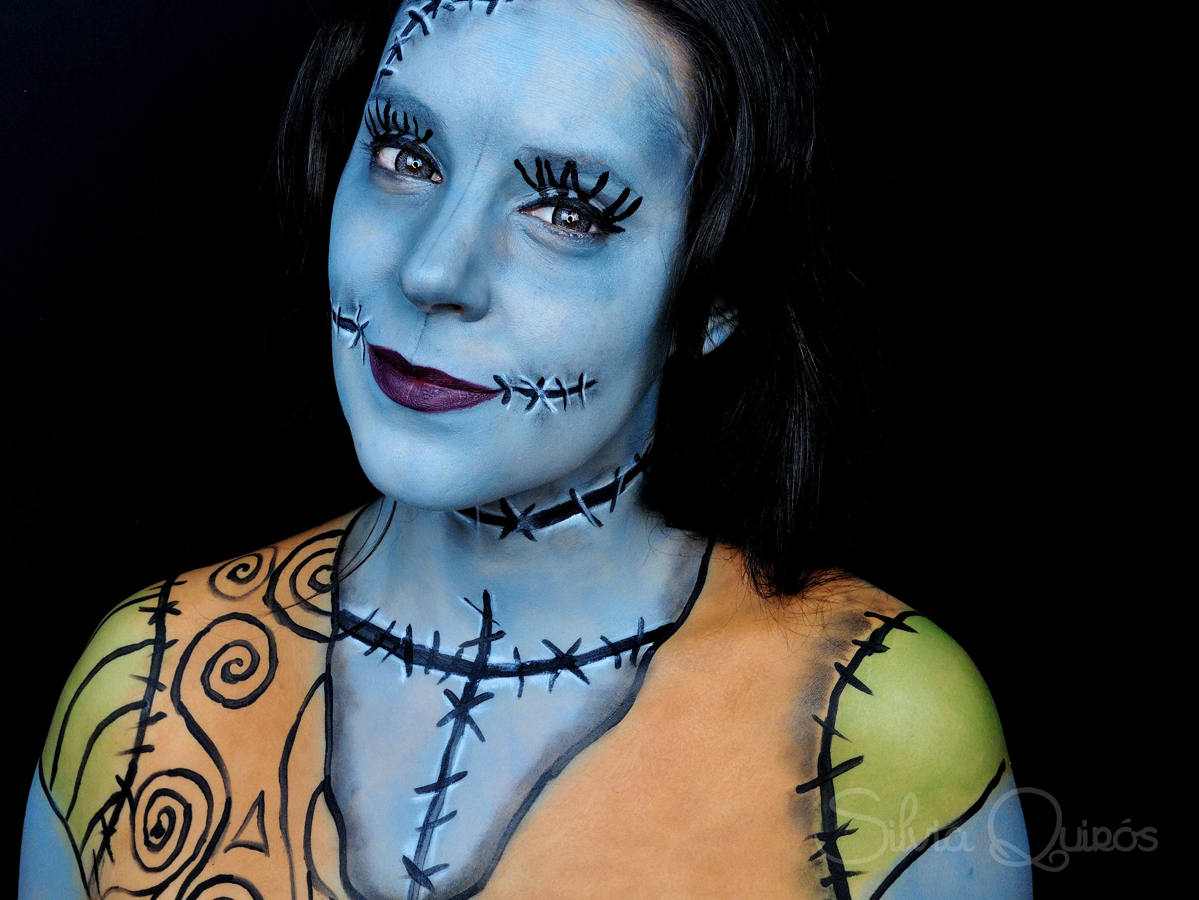 Nightmare before Christmas Sally makeup tutorial - Silvia Quirós