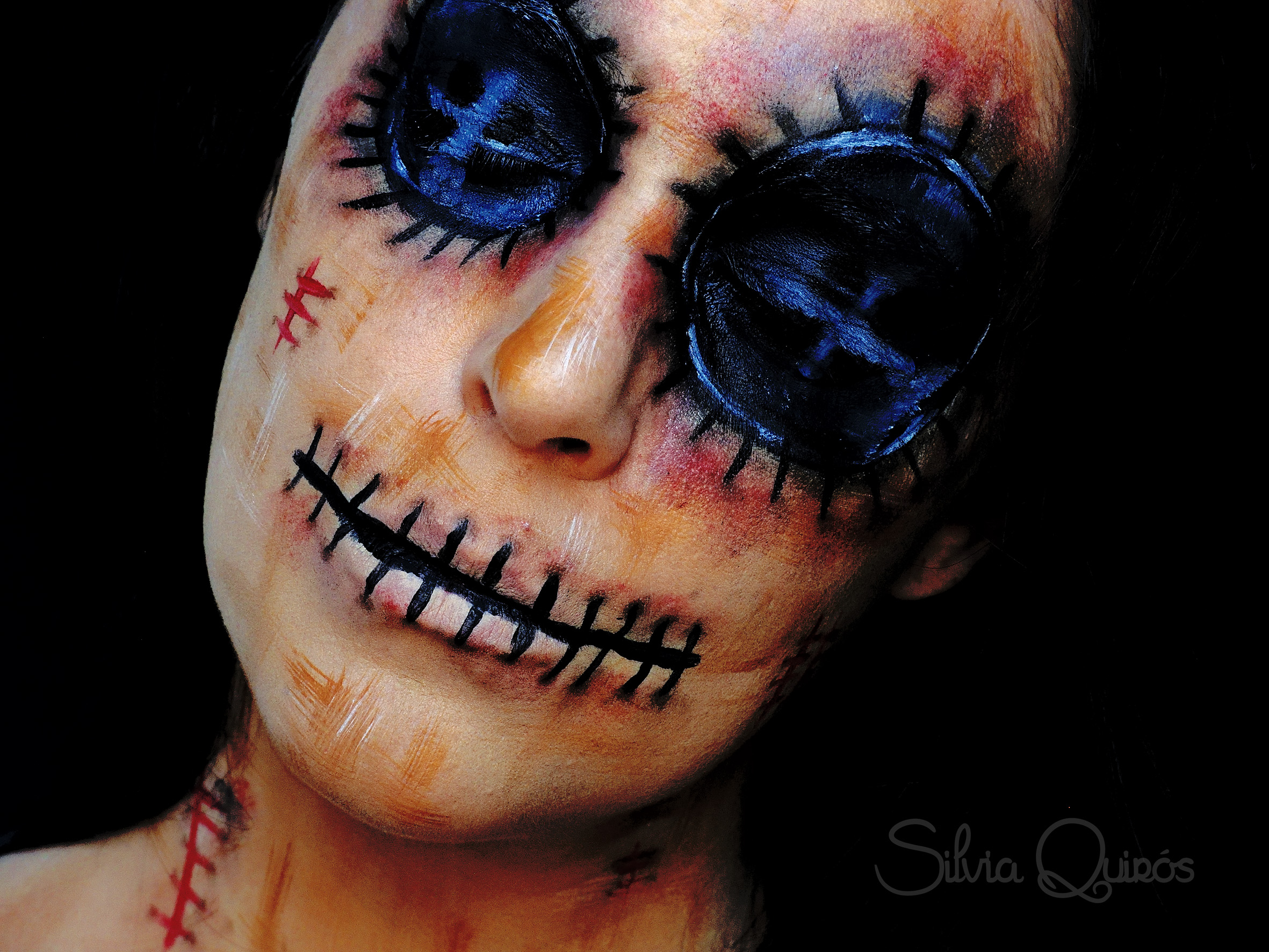 Voodoo doll makeup tutorial silvia quirs voodoo doll makeup tutorial voodoo doll makeup tutorial baditri Images