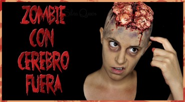 Zombie con cerebro fuera efectos especiales