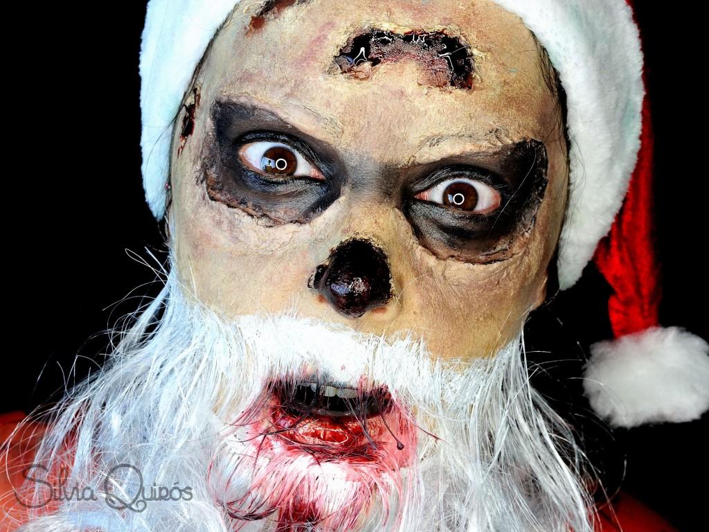 Maquillaje Zombie Papa Noel tutorial