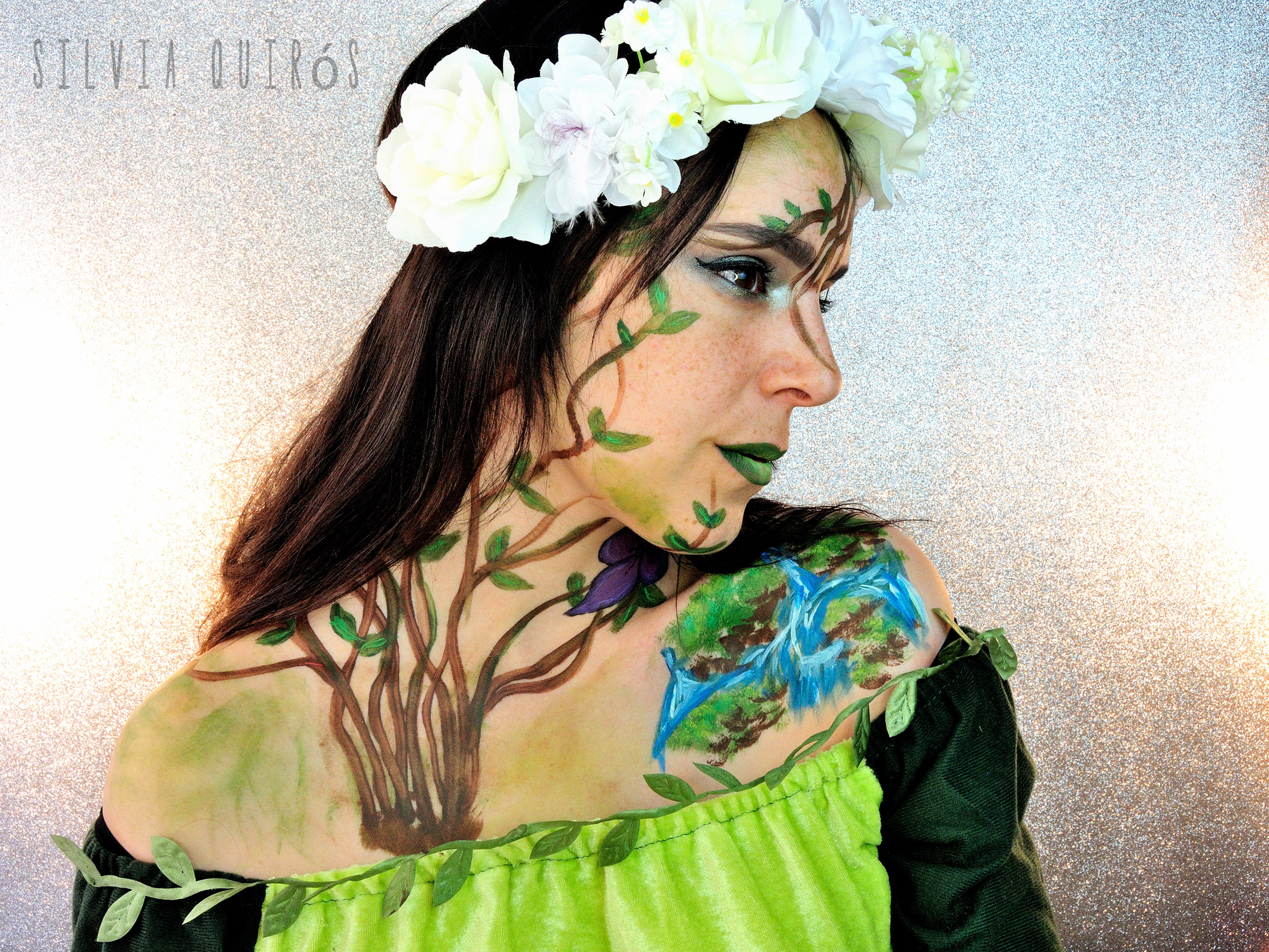 Mythological Goddesses Gaia special effects makeup