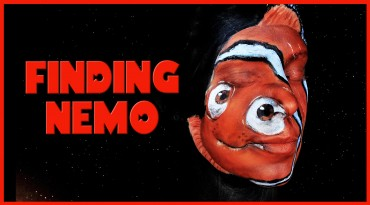 Nemo from Finding Nemo makeup tutorial