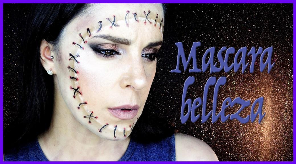 Maquillaje máscara belleza en zombie