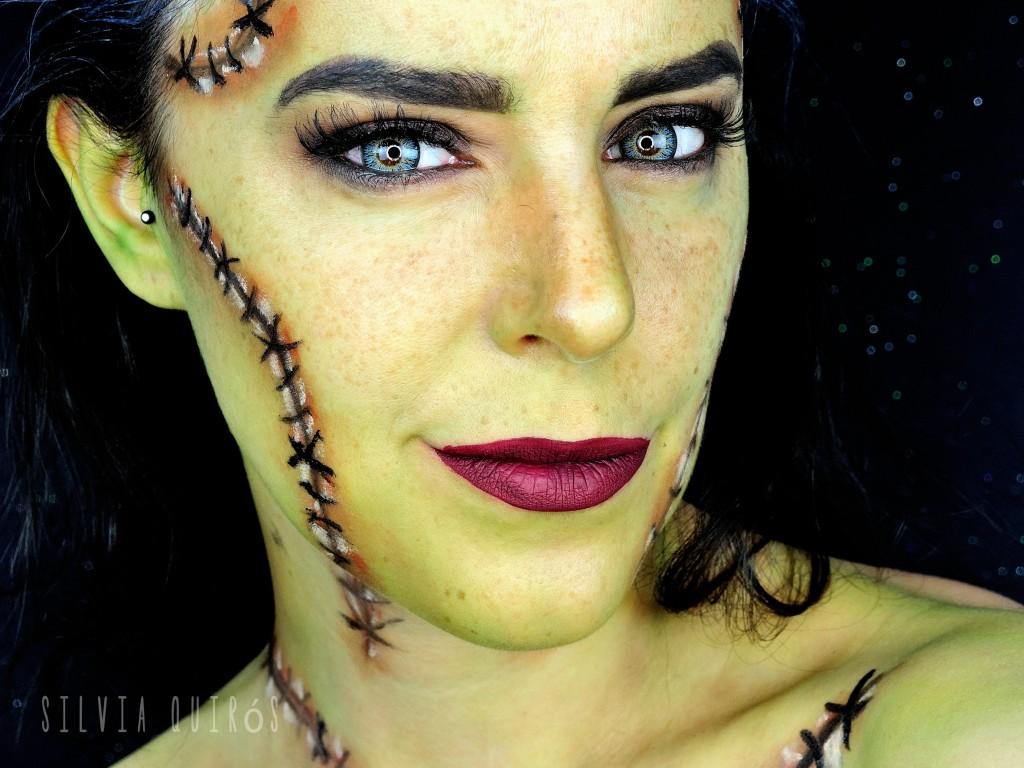 Frankenstein Bride makeup tutorial