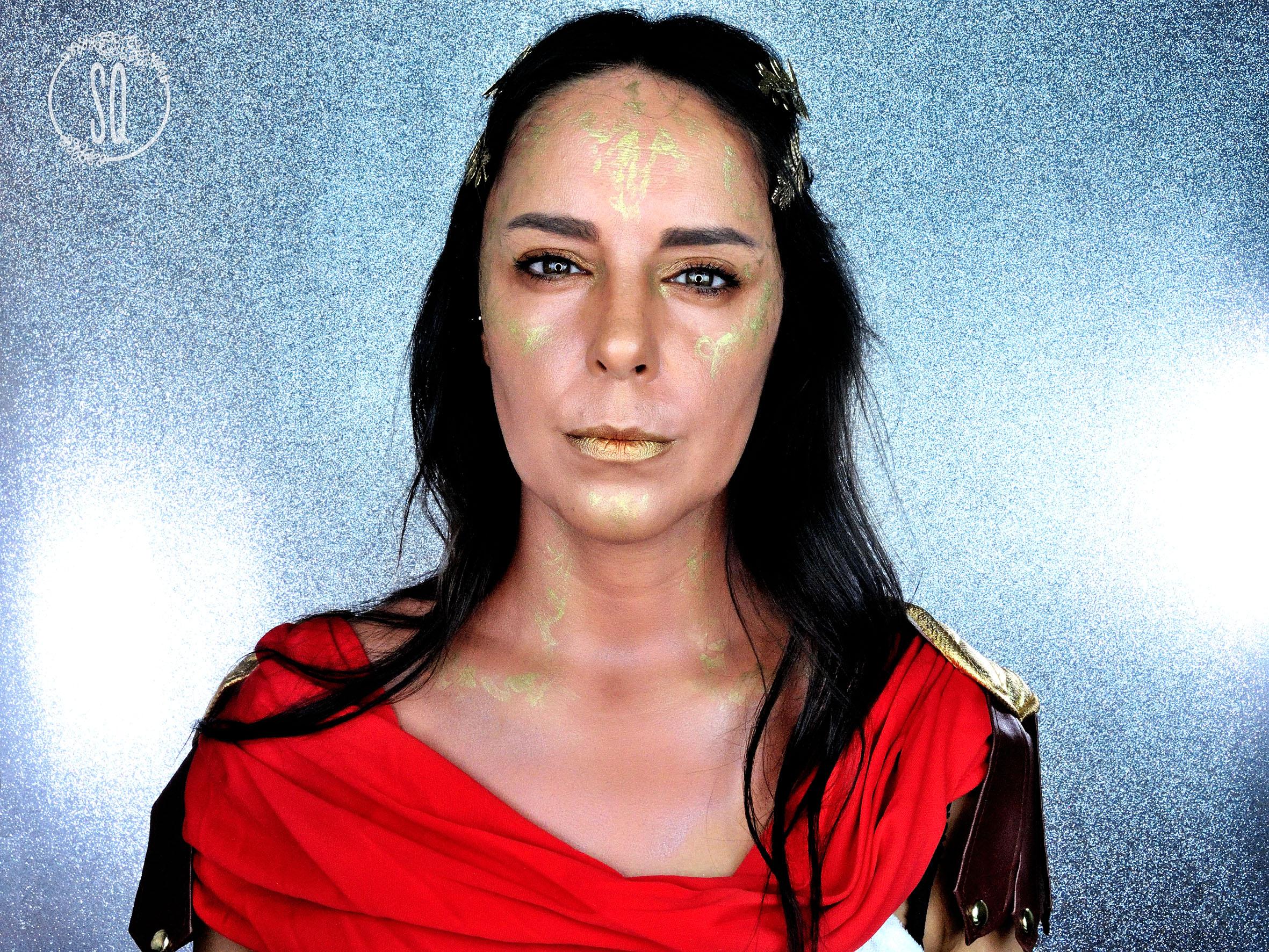 Mythological Goddesses Athena special effects makeup