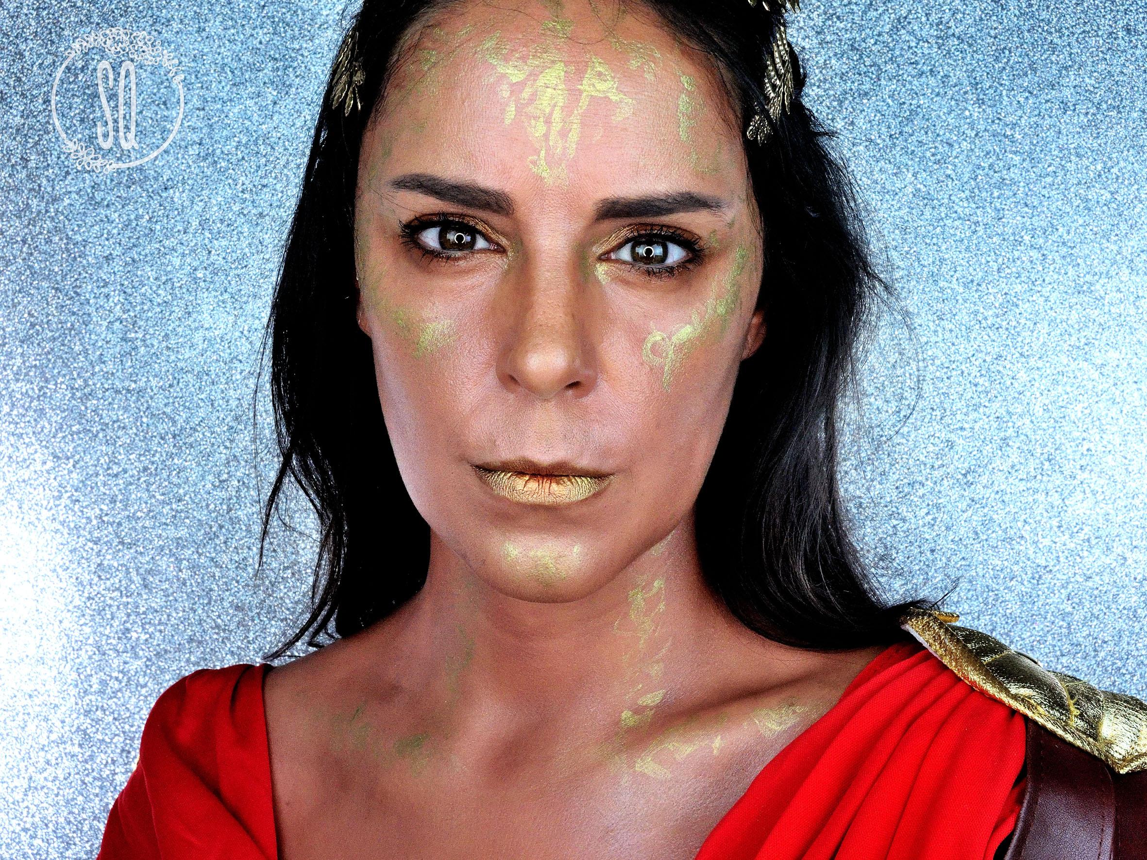 Diosas Mitológicas Atenea Maquillaje efectos especiales