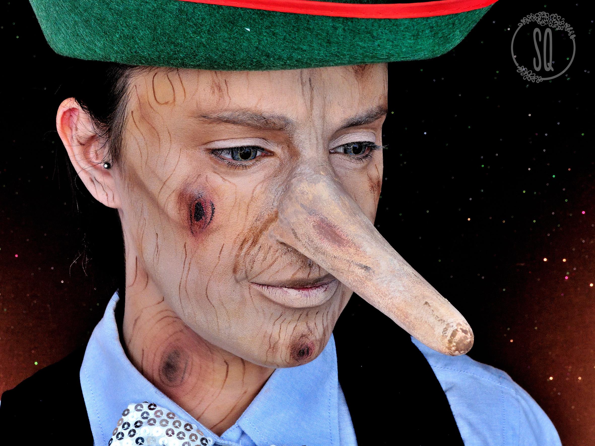 Pinocho Personaje Cuentos Maquillaje Fantas