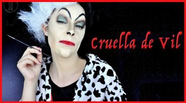 Cruella de Vil, fairy tale characters #5 Fantasy makeup