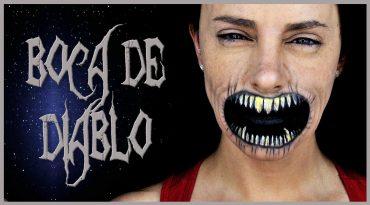 Tutorial maquillaje efecto boca de diablo