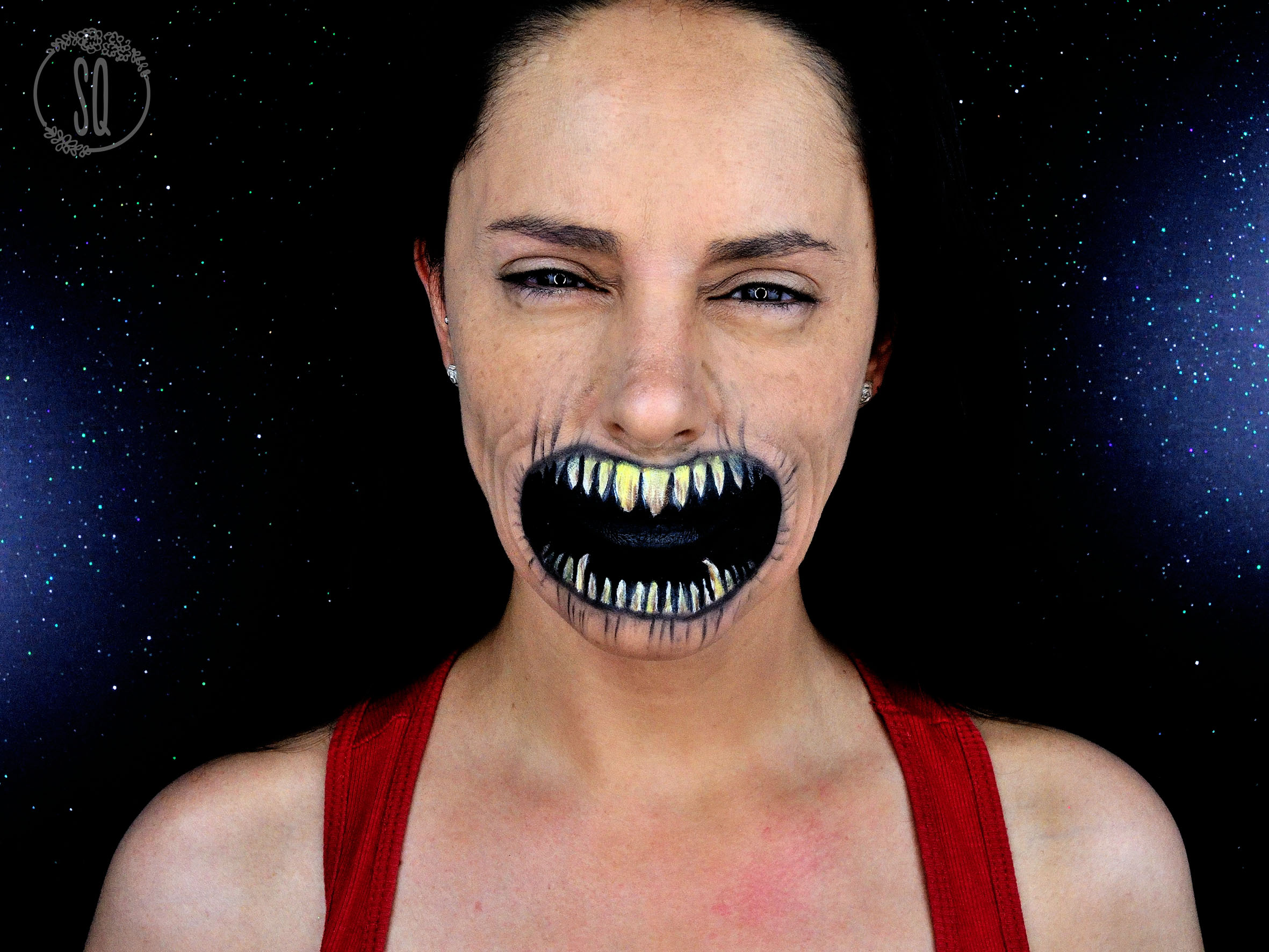 tutorial maquillaje efecto boca de diablo - Maquillaje Demonio