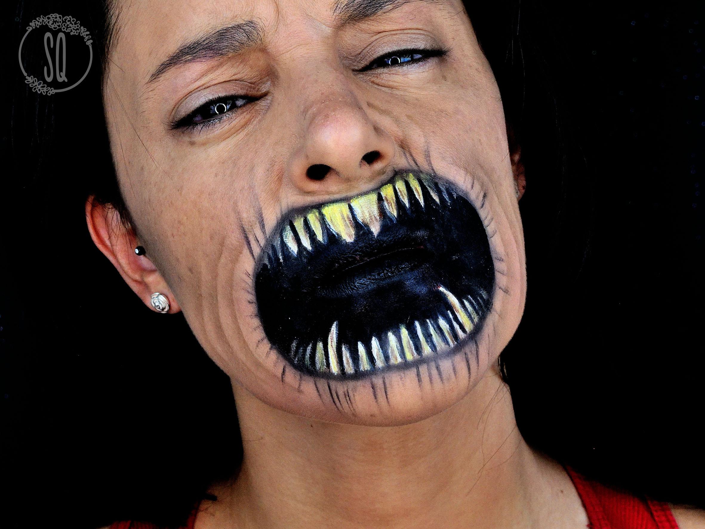 tutorial maquillaje efecto boca de diablo tutorial maquillaje efecto boca de diablo - Maquillaje Demonio
