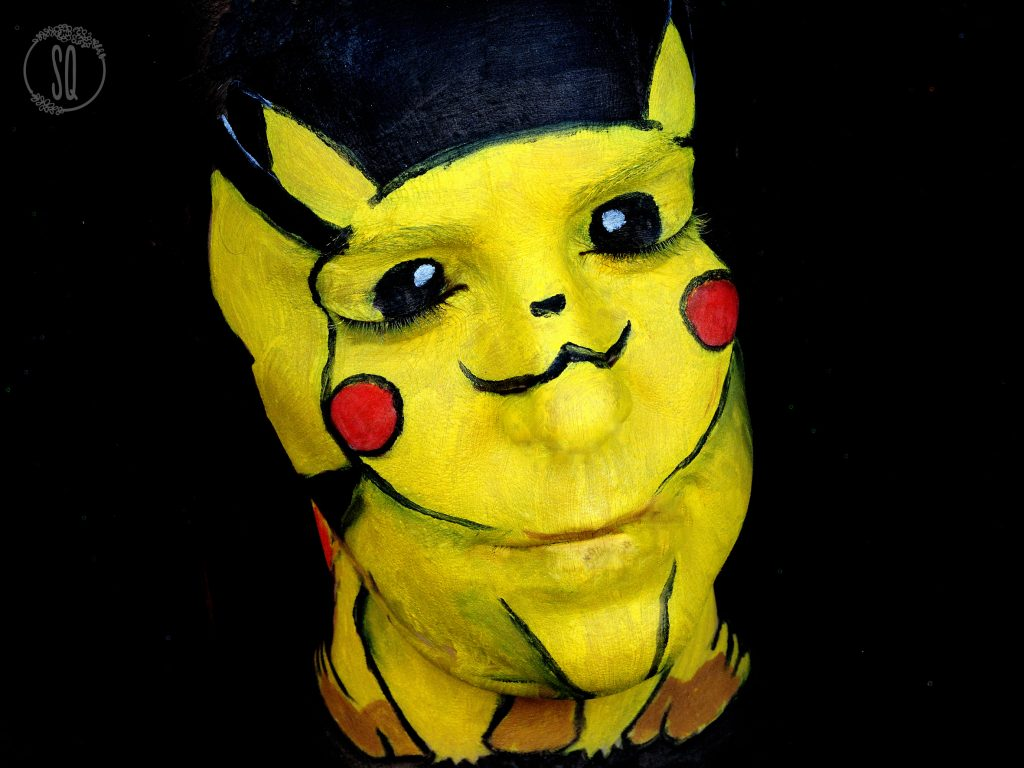 Maquillaje Pikachu face paint tutorial