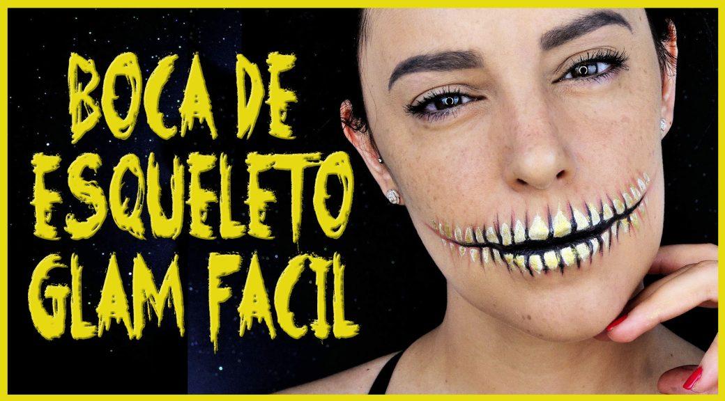 Tutorial boca de esqueleto muy fácil para Halloween