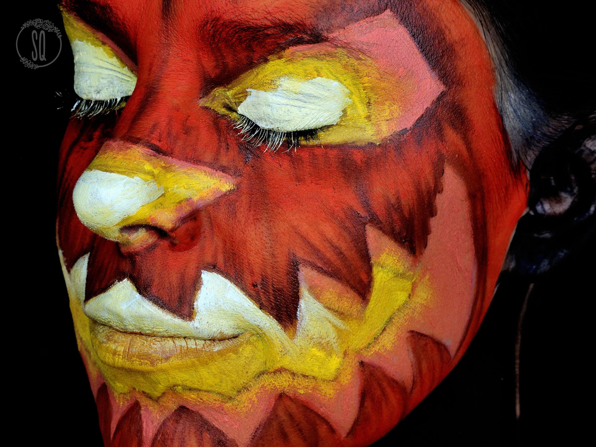Carved pumpkin makeup tutorial for halloween silvia quirós
