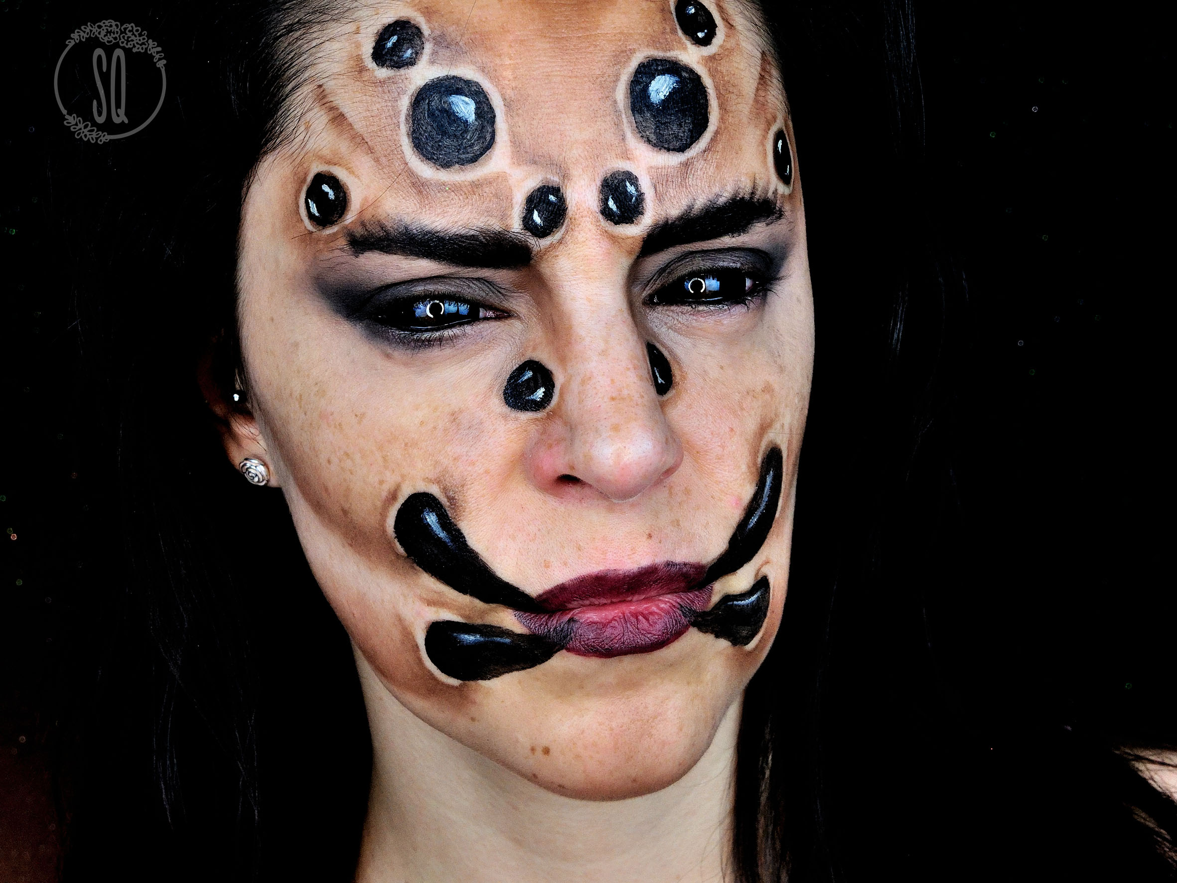 tutorial maquillaje cara de araa para halloween - Maquillaje Halloween