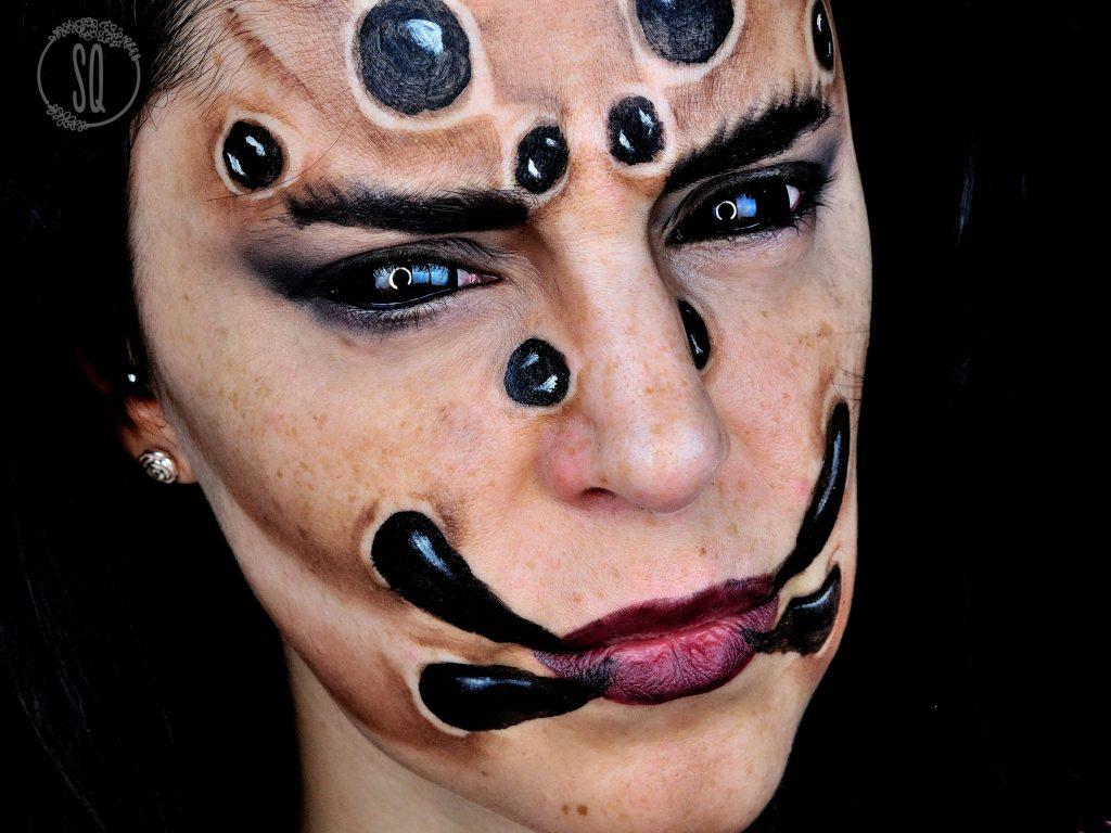 Tutorial maquillaje Cara de Araña para Halloween