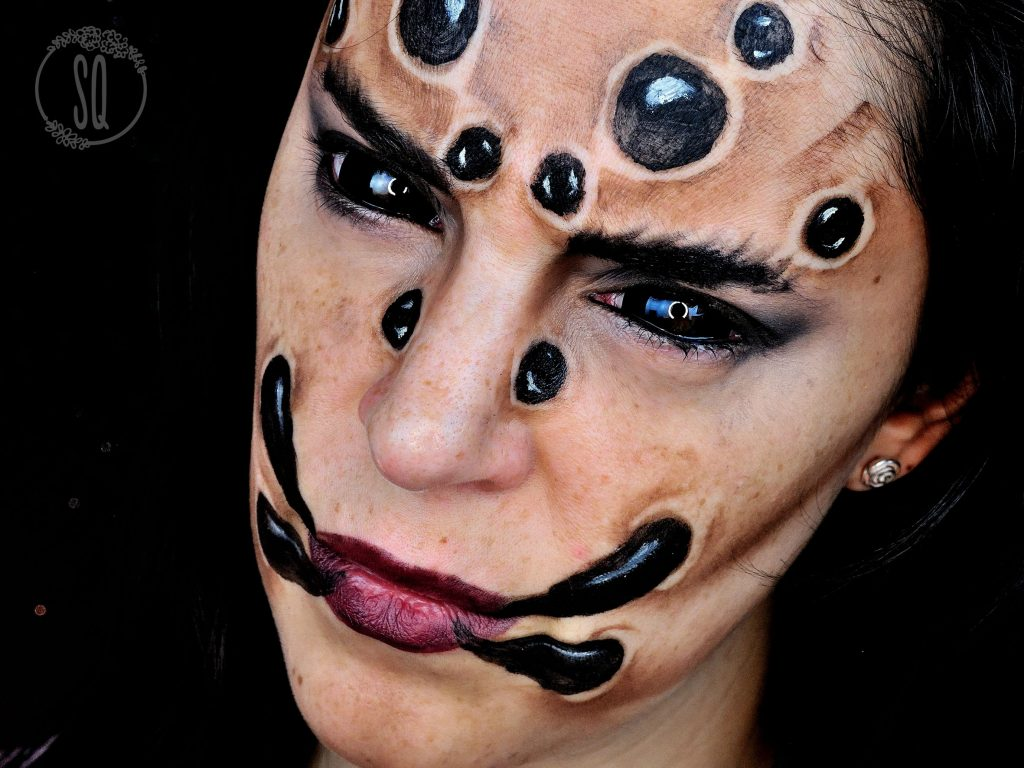 Spider Face makeup tutorial for Halloween