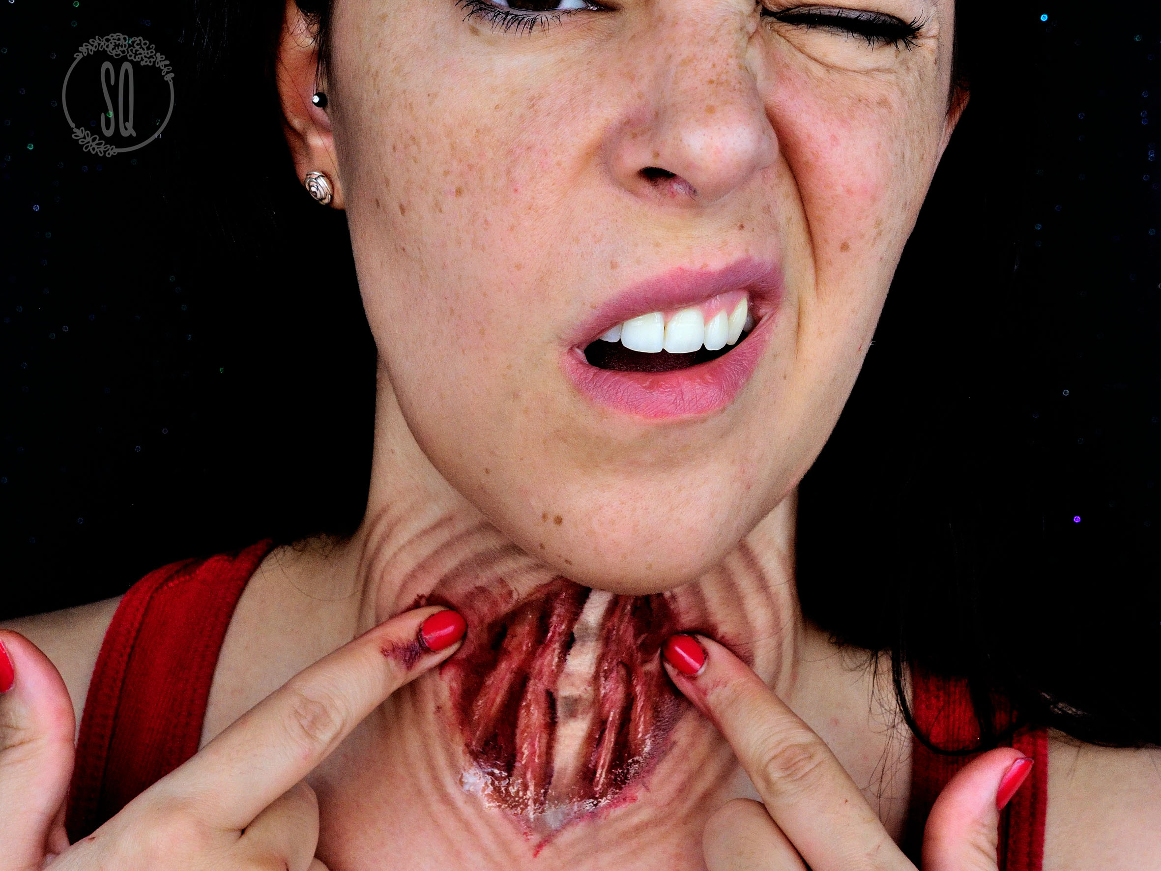 Open Throat Special Effects Makeup Tutorial Silvia Quir 243 S