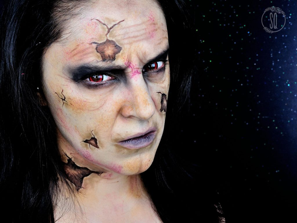 Old evil witch makeup tutorial