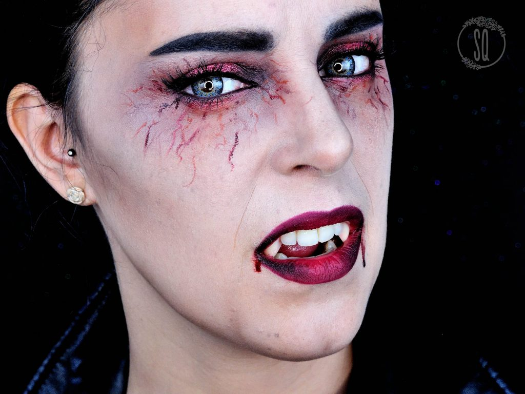 Terrifying and glam Vampire makeup tutorial