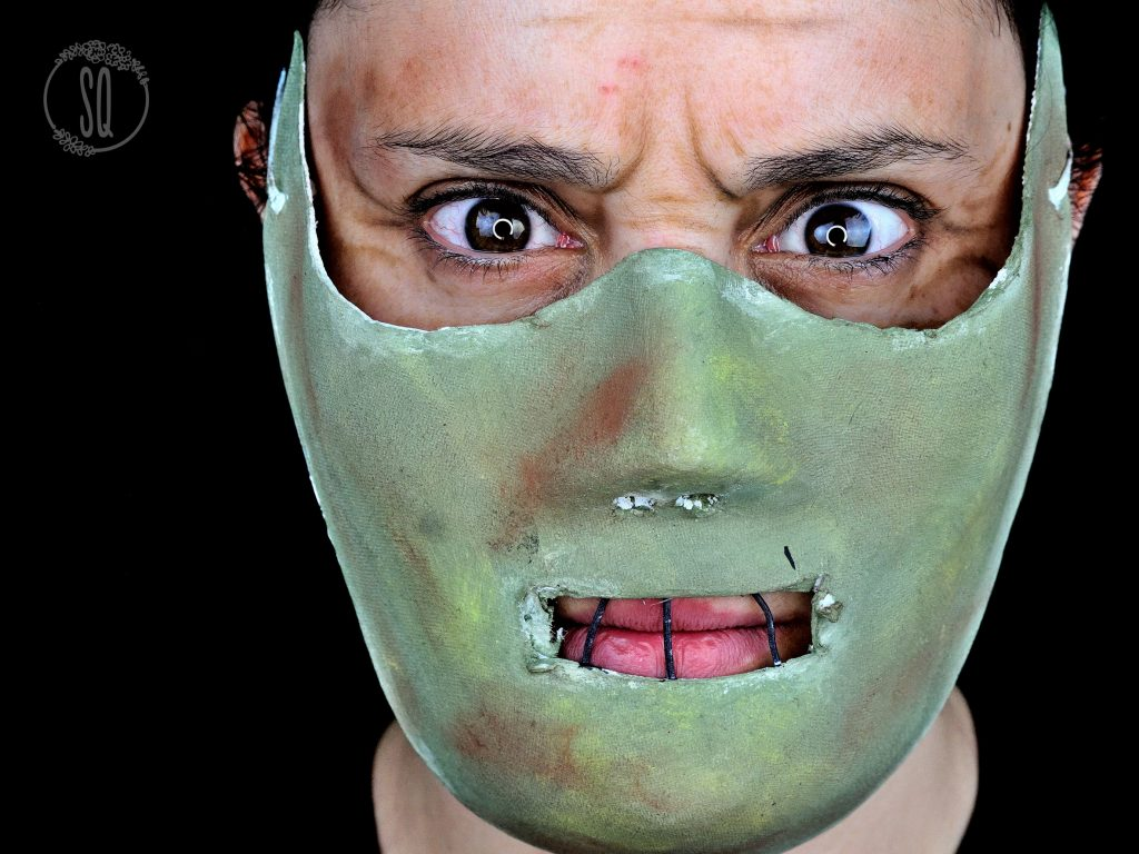 Hannibal Lecter makeup and mask tutorial for halloween