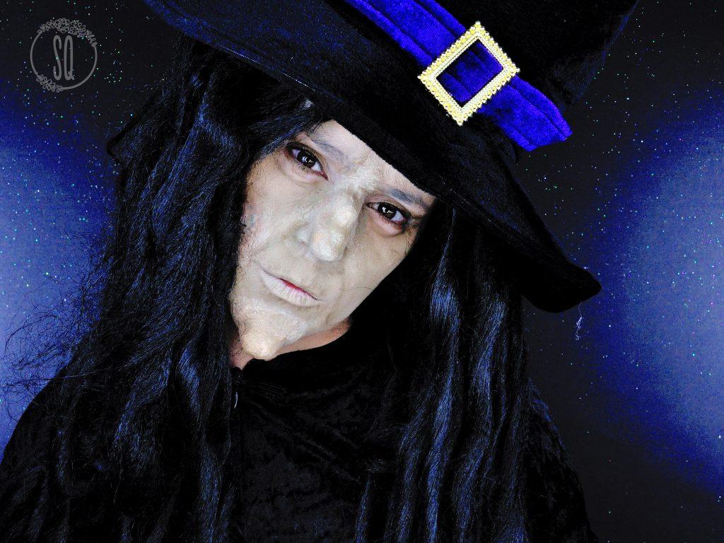 Evil Witch makeup tutorial using homemade prosthetics