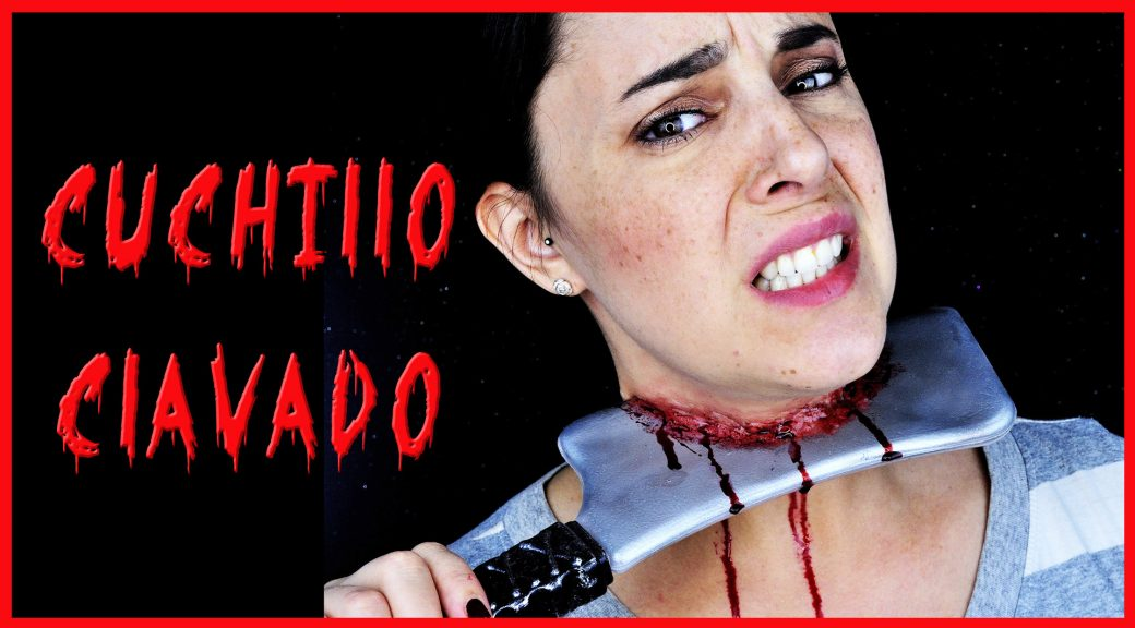 Tutorial efectos especiales cuchillo clavado para Halloween