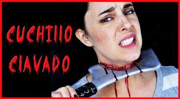 Tutorial efectos especiales cuchillo clavado para Halloween