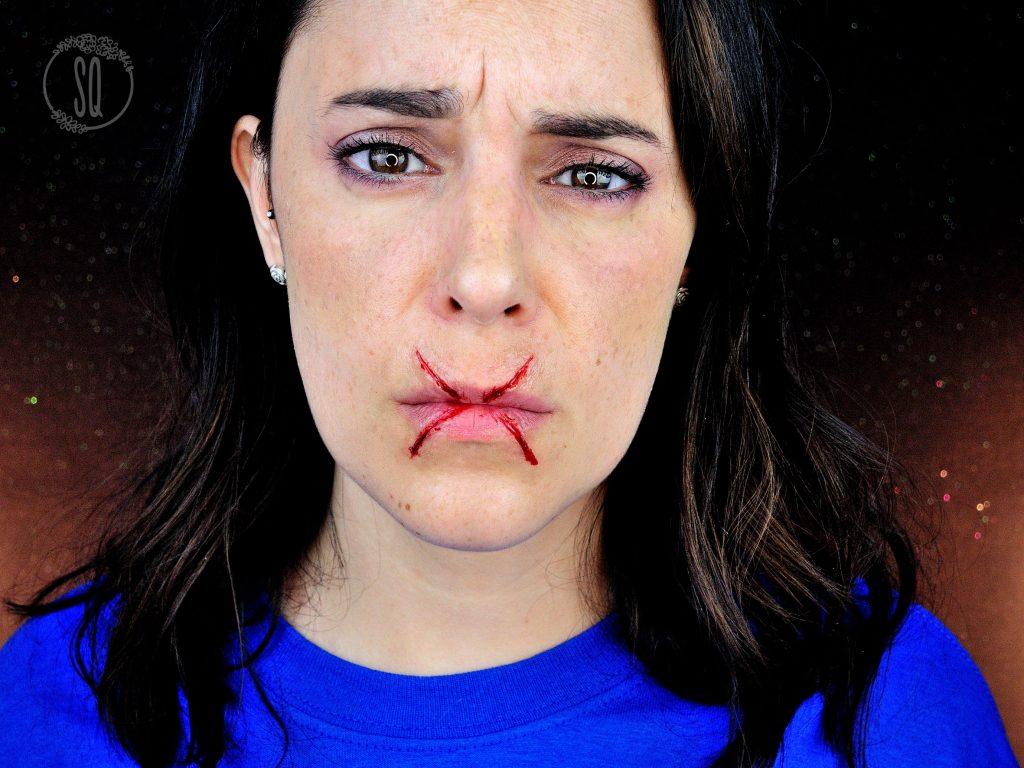 Tutorial fácil de efecto corte en X en la boca