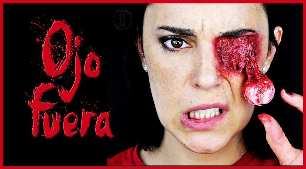 Efecto ojo descolgado tutorial maquillaje FX para Halloween