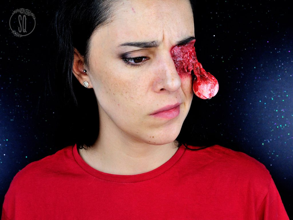 Eye Pop Out Special Effects Makeup For Halloween Silvia