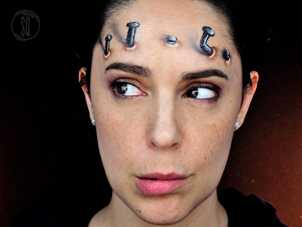 Clavos, maquillaje efectos especiales, ilusiones ópticas