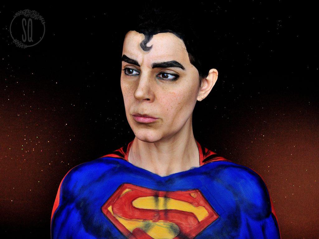 Makeup Transformation into SuperMan