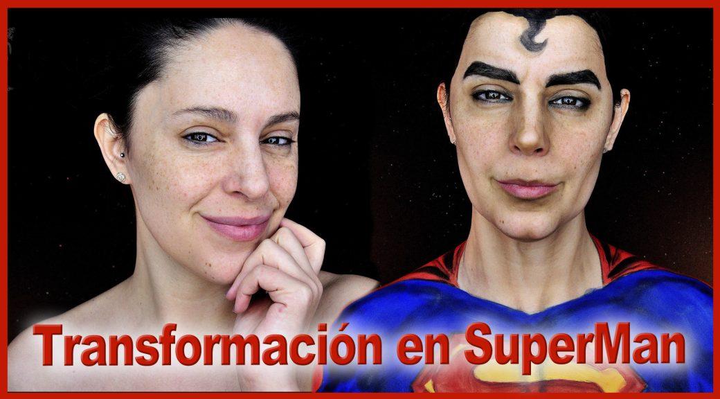 Transformación en SuperMan maquillaje