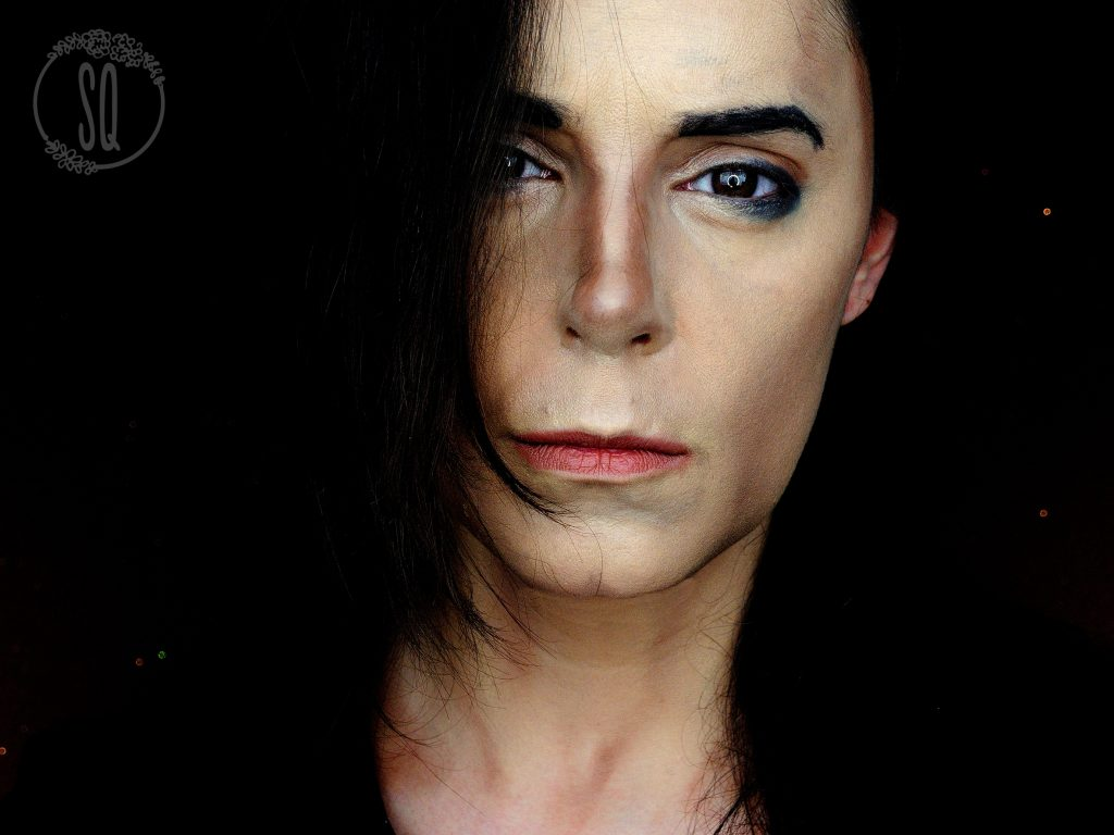 Makeup transformation into Michael Jackson