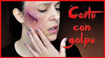 Efecto corte con golpe tutorial maquillaje