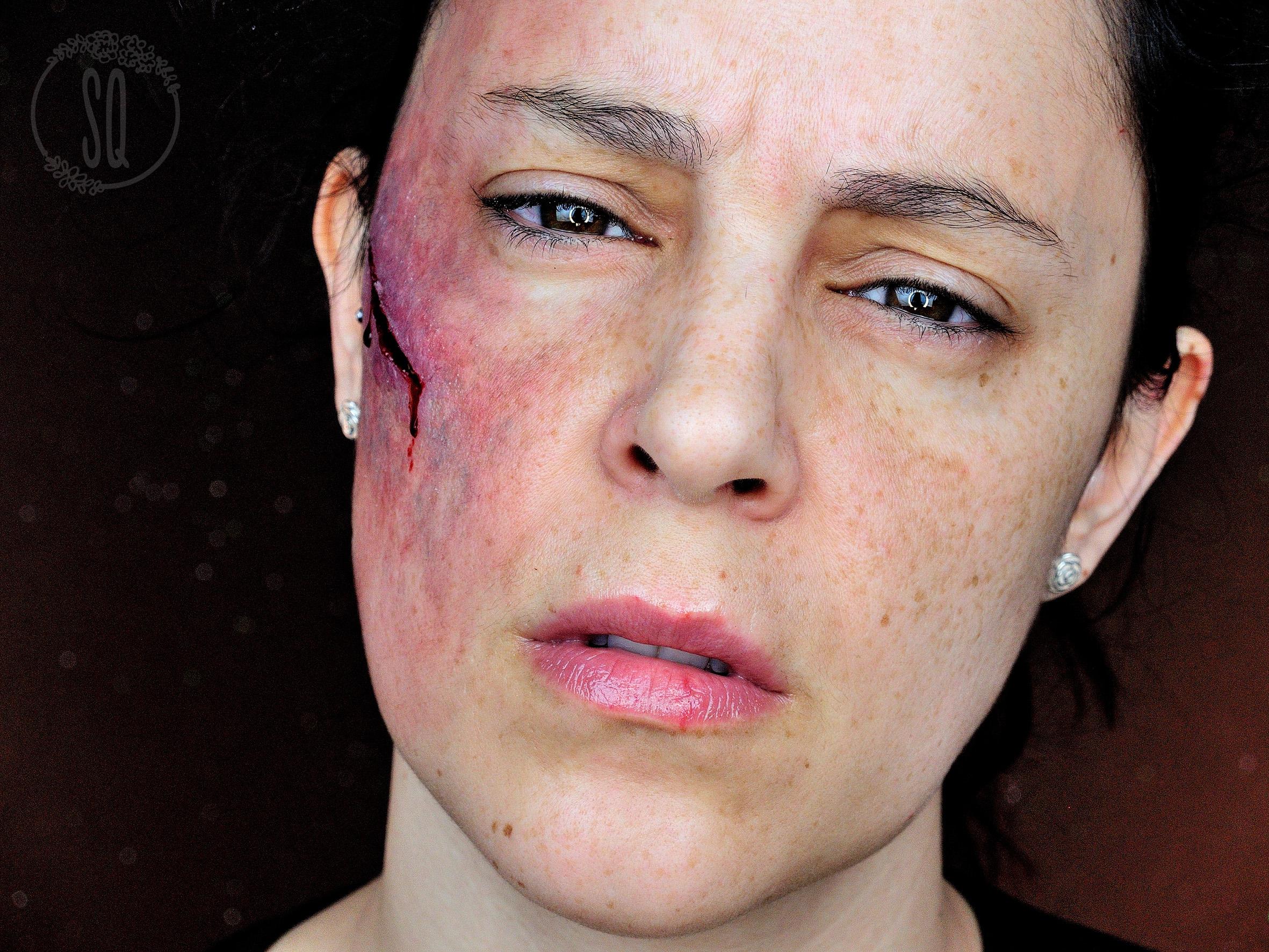 Bruise makeup tutorial emo makeup cut with bruise makeup tutorial effect cut with bruise makeup tutorial effect baditri Choice Image